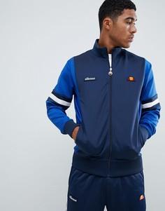 Темно-синяя трикотажная спортивная куртка со вставками на рукавах ellesse Galturg - Темно-синий
