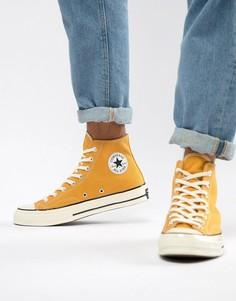 Желтые высокие кеды Converse Chuck Taylor All Star 70 162054C - Желтый