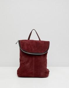 Замшевый рюкзак ASOS DESIGN - Красный