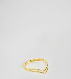 Кольцо из позолоченного серебра со стрелой Kingsley Ryan - Золотой