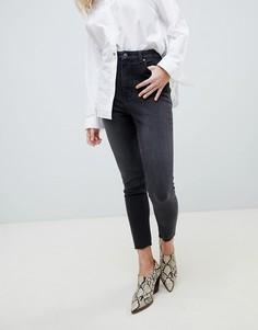 Выбеленные джинсы в винтажном стиле с завышенной талией Cheap Monday - Черный
