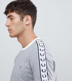Серая футболка с окантовкой Fred Perry Sports Authentic - Серый
