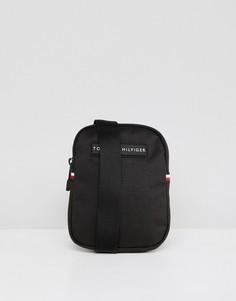 Черная компактная сумка через плечо Tommy Hilfiger - Черный