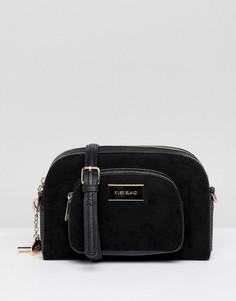 Черная сумка на плечо с карманом River Island - Черный