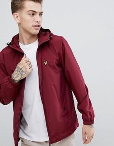 Куртка на молнии с капюшоном Lyle & Scott - Красный