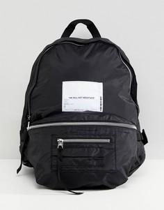 Рюкзак с карманами и нашивкой Cheap Monday - Черный