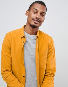 Желтая рубашка с воротником на пуговицах Dr Denim Pete - Золотой