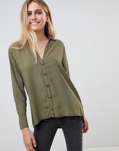 Рубашка с контрастными строчками New Look - Зеленый