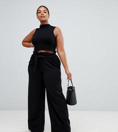 Черные брюки с широкими штанинами Missguided Plus - Черный