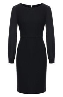 Приталенное платье с круглым вырезом Emporio Armani