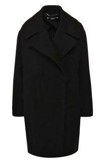 Однотонное шерстяное пальто Stella McCartney
