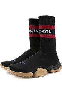 Высокие текстильные кроссовки Vetements x Reebok Vetements