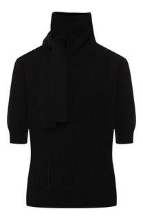 Пуловер из смеси хлопка и шерсти с высоким воротником self-portrait