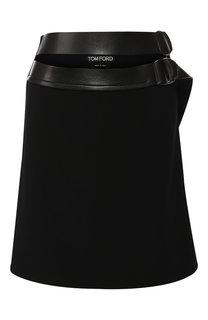 Шерстяная мини-юбка с поясом Tom Ford