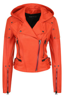 Кожаная куртка с капюшоном Tom Ford