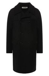 Двубортное шерстяное пальто Saint Laurent
