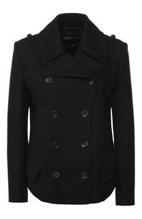 Укороченное двубортное шерстяное пальто Tom Ford