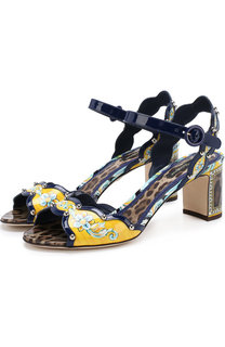Кожаные босоножки Keira с декором Dolce & Gabbana