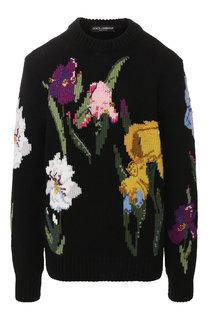 Шерстяной пуловер с декоративной отделкой Dolce & Gabbana