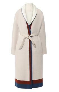Кашемировое пальто с кожаным поясом Loro Piana