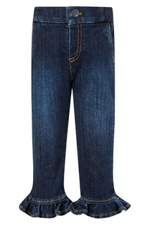 Укороченные джинсы с оборками Fendi Kids