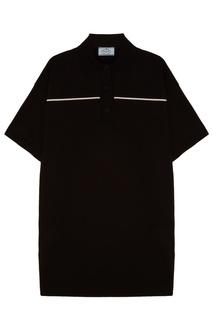 Черное платье-футболка Prada