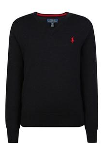 Черный пуловер Ralph Lauren Kids