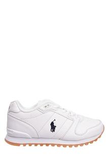 Белые кроссовки с флагом Ralph Lauren Kids