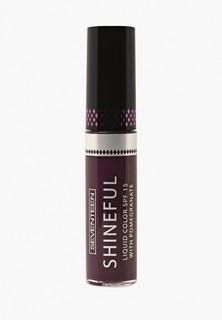 Помада Seventeen Seventeen. Жидкая с глянцевым эффектом SHINEFUL LIQUID COLOR, 12, фиолетовый кларет