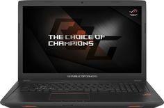 """Ноутбук ASUS ROG GL753VE-GC182T, 17.3"""", Intel Core i7 7700HQ 2.8ГГц, 8Гб, 1000Гб, 256Гб SSD, nVidia GeForce GTX 1050 Ti - 4096 Мб, Windows 10, 90NB0DN2-M02870, черный"""