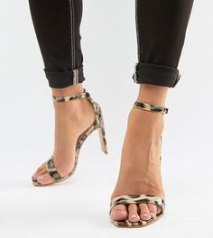 Лакированные босоножки на каблуке с леопардовым принтом Glamorous - Мульти