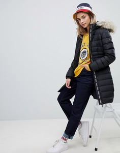 Черная дутая куртка Tommy Jeans - Черный