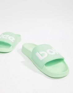 Зеленые шлепанцы с логотипом Reebok CN4189 - Зеленый