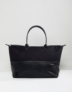 Спортивная сумка из искусственной кожи и парусины Mi-Pac - Черный