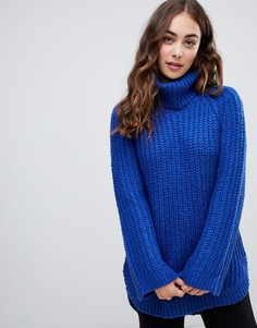 Джемпер крупной вязки с отворотом Vero Moda - Синий