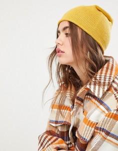 Кашемировая шапка-бини Pieces - Желтый