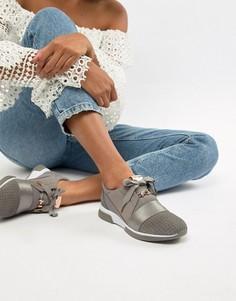 Серые замшевые кроссовки с ремешком Ted Baker - Серый