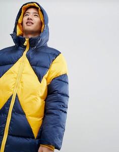 Сине-желтая куртка-пуховик Wrangler - Темно-синий