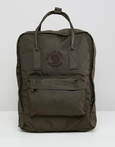 Темно-зеленый рюкзак Fjallraven Re-Kanken 16 л - Зеленый