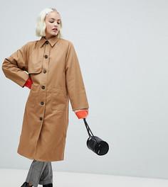 Легкое пальто-oversize песочного цвета Monki - Бежевый