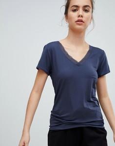 Пижамный топ с короткими рукавами Calvin Klein - Темно-синий