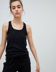 Бесшовная майка с логотипом Calvin Klein - Черный