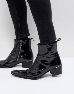 Ботинки с заклепками на молнии Jeffery West Sylvian - Черный