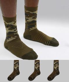 2df3f4ac08460 3 пары носков с камуфляжным принтом Nike Training Everyday Max Cushion  SX7630-395 - Зеленый