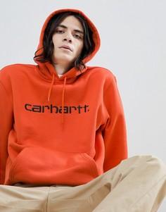 Carhartt WIP embroidered logo hoodie in orange - Оранжевый