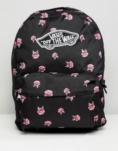Черный рюкзак с цветочным принтом Vans - Черный