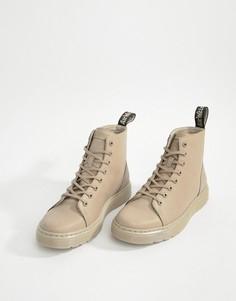 Серо-коричневые ботинки с 8 парами люверсов Dr Martens Talib - Коричневый