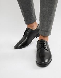 Строгие черные туфли дерби Base London - Черный