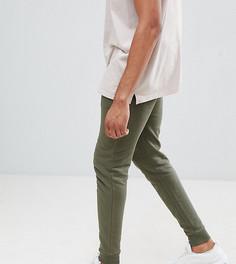 Джоггеры скинни цвета хаки ASOS DESIGN tall - Зеленый