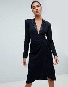 Платье миди с запахом Club L - Черный